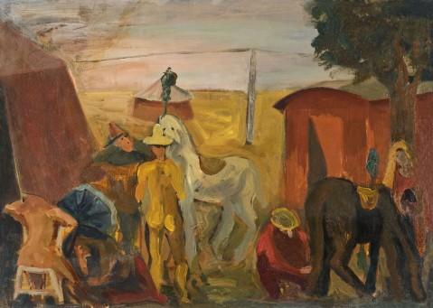 Attesa di pagliacci, 1943. Trieste, Museo Revoltella