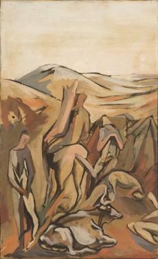 Bovi e pastori (natura morta), 1955